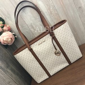 Michael Kors Sandy Large MF TZ Tote Vanilla AUTHEN